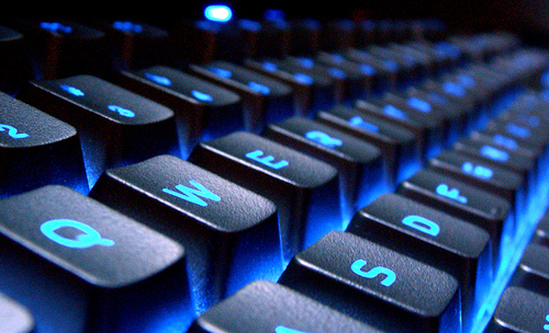 Keyboard Blue Glow by ahhyeah
