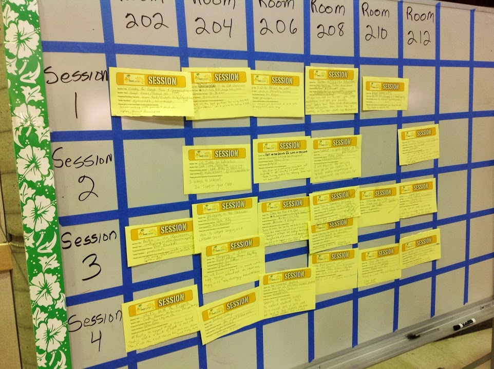 #edcampps Session Board